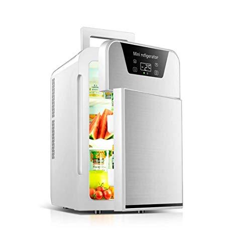 ZOUSHUAIDEDIAN Mini Nevera de 20 litros de CA/CC Portable de la Belleza Nevera refrigerador termoeléctrico y Calentador for el Cuidado de la Piel, Dormitorio y Viajes, Oro/Plata (Color : Silver)