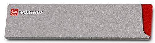 Wüsthof 9920-5 Klingenschützer, Kunststoff / Samt, für Klingenlänge bis 20 cm, grau / rot, 20,5 x 5 cm