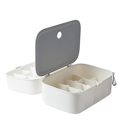 K-Park Caja de almacenamiento de ropa interior, caja de almacenamiento de ropa interior portátil de viaje multifunción plegable caja de almacenamiento actualización