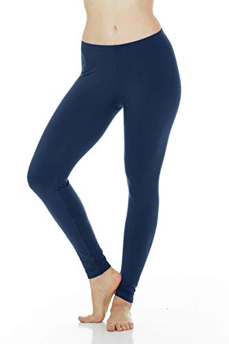 Thermajane Women's Ultra Soft Thermal Pants Bottoms (Navy, Medium)