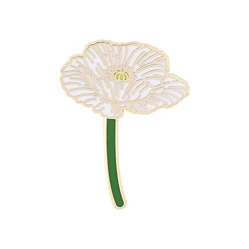 WizardPins Poppy Bonsai Flower– 1 White Pin