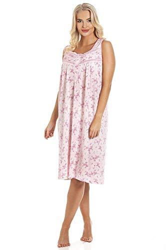 Camille Chemise de Nuit sans Manches à imprimé Floral Rose 38-40 Pink