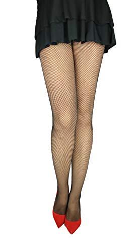 Marilyn fijne visnet panty met kleine gaatjes (56HOLES), 20 denier, maat 40/42 (M/L), Beige (visum)