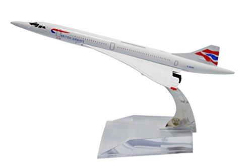 TANG DYNASTY(TM) 1:400 16cm Concorde British Airways Metal Airplane Model Plane Toy...