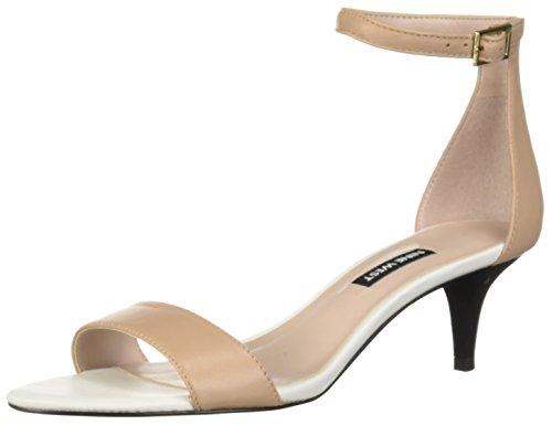Price comparison product image NINE WEST Women's Leisa Leather Sandal,  Medium Natural,  9 M US