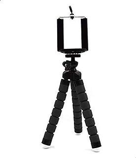 حامل ثلاثي صغير مع ارجل مرنة اخطبوطية لتثبيت الموبيلات الذكية والكاميرا وكاميرا الفيديو الرقمية وجهاز بروجيكتور،اسود