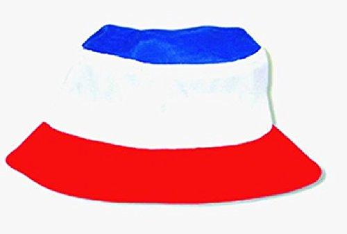 Mondial-Fete - Bob Bleu Blanc Rouge Adulte - Taille Unique