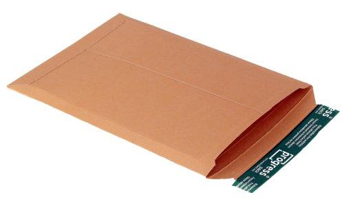 progressPACK Versandtasche PP V04.04 aus Vollpappe, DIN A4+, 237 x 342 x bis 30 mm, 25-er Pack, braun