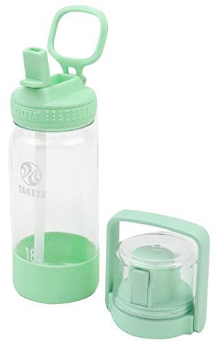 【タケヤ公式】ゴーカップ クリアボトル 0.52L アイスグリーン 水筒 キッズ ストロー コップ TAKEYA