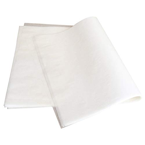 BESTONZON Hojas de papel para hornear de papel pergamino de 100 piezas Hojas de papel para asado antiadherente, adecuadas para asar y cocinar (22x33cm / rectángulo)