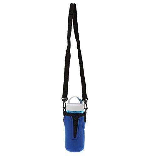 SM SunniMix Portabotellas de Agua, Funda de Neopreno con Aislamiento para Botella de Agua, Funda para Bolsa, 500 Ml, Correa de Hombro Ajustable - Azul