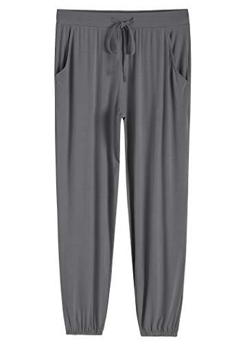 Latuza Women's Pajamas Pants Lounge Bottoms with Pockets XL Gray