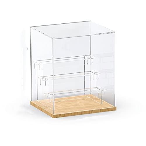 Cajas de acrílico para exhibición, colección, Organizador de Almacenamiento, Vitrina, 3 tamaños, para Figura Pop, muñeca, Juguetes y Caja ciega (Transparente) (Size : 220x235x270mm)