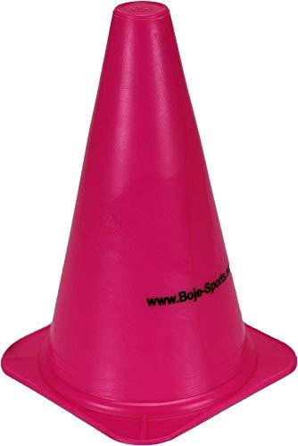 Boje Sport 1x Markierkegel, 23 cm, pink, für das Fußballtraining, Trainingshilfen, Leitkegel, Verkehrshütchen für Kinder, Sport, Inlineskating, Reitsport und Agility Hundesport, Leichtathletik