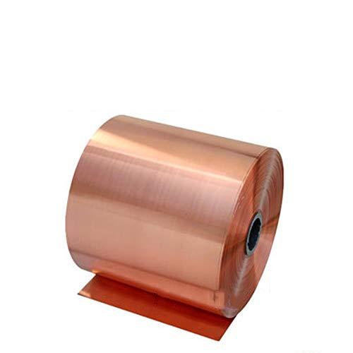 Zuiver Koper Koperfolie 5M Afschermingsplaat Breedte 20Mm 30Mm 50Mm Dikte 0,05 Mm Dubbelzijdig Geleidende Roll,0.05mm*20mm*5000mm