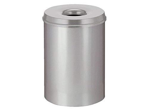 V-Part Selbstlöschender Papierkorb 50 Liter, grau