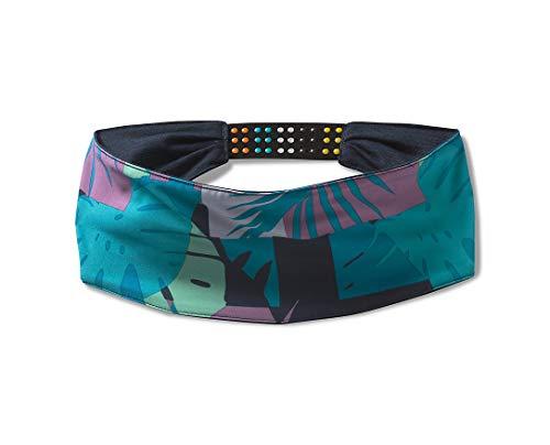 Smartwool Unisex Merino Sport Polyester Headband, Deep Navy Palm Print, One Size Fits Most