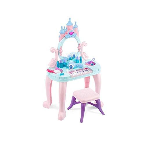 Digitale piano Kinderspeelgoed Girls Play House kaptafel make-up tabel Keyboard Piano Educatief speelgoed 3-6 jaar oude kinderen Gift (kleur: roze) (Color : Pink)