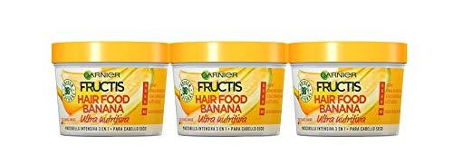 Garnier Fructis Hair Food 3 Behälter mit 390 ml - Total: 1170 ml - Banane
