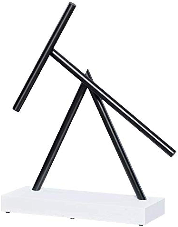 The Swinging Sticks Mini Replika, schwarz & Weiß, Perpetuum Mobile Illusion