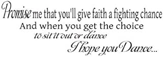 Wheeler3Designs I Hope You Dance. Wall Quote Vinyl Decal Saying [Kitchen]
