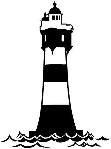 Samunshi® Aufkleber Leuchtturm 'Roter Sand' Autoaufkleber in 12 Größen und 25 Farben (15x20cm schwarz)