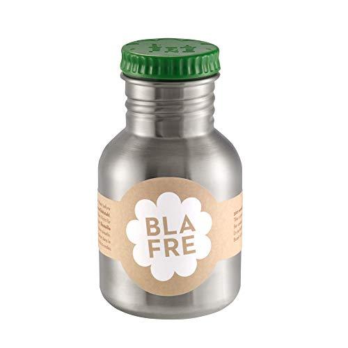Blafre Botella de acero inoxidable reciclado, color verde, 300 ml, diseño clásico y una manera súper de evitar desechar plástico