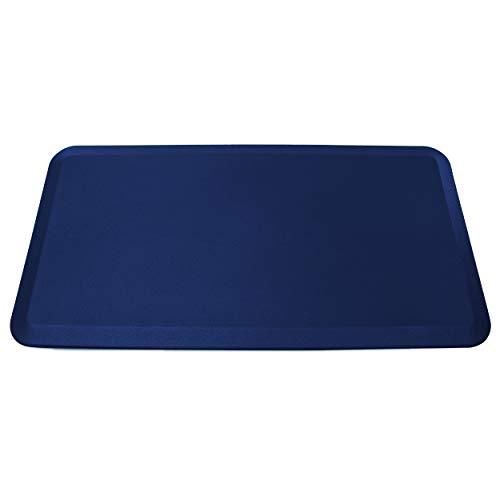 HemingWeigh - Alfombrilla antideslizante antifatiga de 3/4 pulgadas, ingeniería ergonómica, no tóxica, material impermeable, 20 x 39 pulgadas (azul)