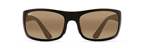 Maui Jim Haleakala Wrap Sunglasses, Matte Black/HCL Bronze Polarized, Medium-Large