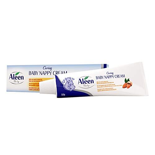 ALEEN Caring Baby Nappy Cream - Crema Pañal | Crema Culito Bebe - Óxido de Zinc, Aceite de Almendras - 50 gr