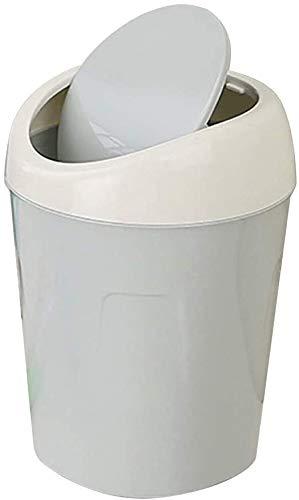 Basura minifalda Pequeño Cubo de la basura de escritorio Suministros de Oficina cesta de plástico lugar de la tabla bote de basura Cubo de basura Misceláneas del barril de la caja de Bento box lunch f