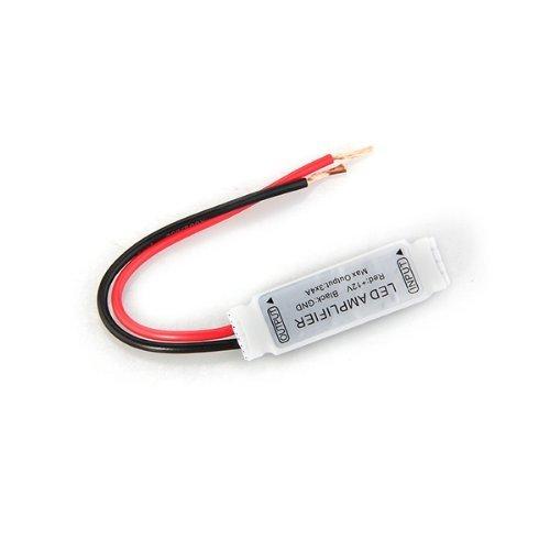 SODIAL(R) 12 A Verstaerker Amplifier fuer LED RGB Strip Band Lichtketten 12V DC