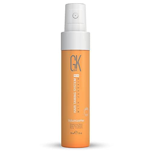 GK HAIR Global Keratin Volumizeher Spray (30ml/ 1.01 Fl Oz) Haarverdickungsspray für Frauen und Männer - Haarvolumizer und Texturierungsspray für Haarvolumen