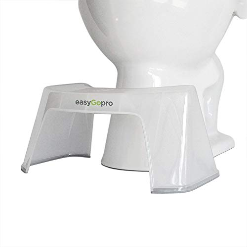 easyGopro 7.5' Original Clear and Compact Squat Toilet Stool | Compact | Sturdy | Made in USA | ICE