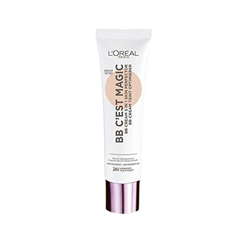 L Oréal Paris Wake Up And Glow Bb C Est Magic, Bb Cream 5 In 1, Idratazione 24H E Fps 20 Medium - 4 Gr