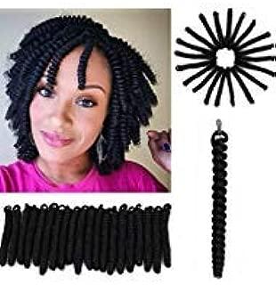 Eunice Crochet Spiral Curls 20 Inch Toni Curl Crochet Hair Short Bouncy Twist Small Curly Crochet Braids 20 strands/pack 3packs/lot(20 inch toni, black)