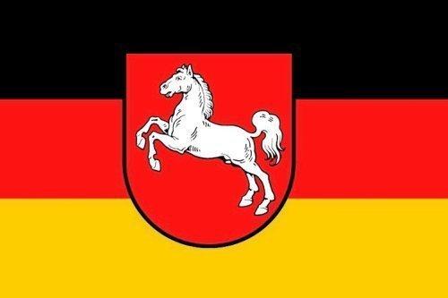 Qualitäts Fahne Flagge Niedersachsen 90 x 150 cm mit verstärktem Hissband