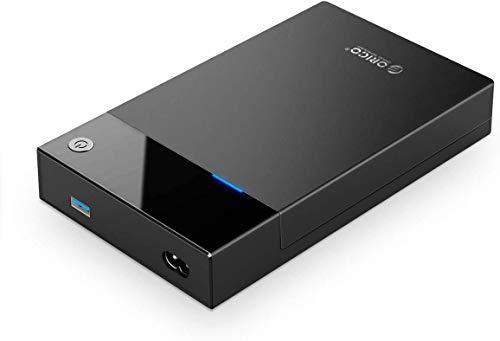 ORICO Case Esterno per Disco Rigido Portatile da 3,5 pollici Adattatore di Alimentazione Integrato da 12 W Custodia per Unità da USB3.0 a SATA III per HDD 2,5 3,5 SSD fino a 16 TB Senza Attrezzi