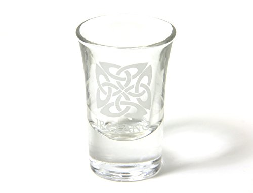 DGC Shot Glass - Glass Shot Glass - Frosted Celtic Knot and 'Ireland'