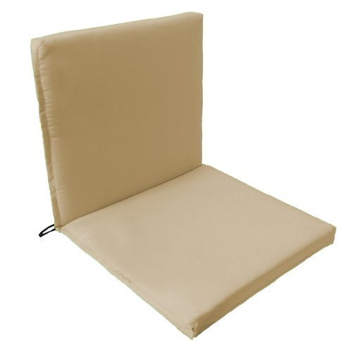 Gardenista Garden Premium Chair Seat Pad | Secure Ties Strings and Elasticated Pull Over on Back | Water Resistant | Suitable for Indoor & Outdoor (1Pcs, Stone)