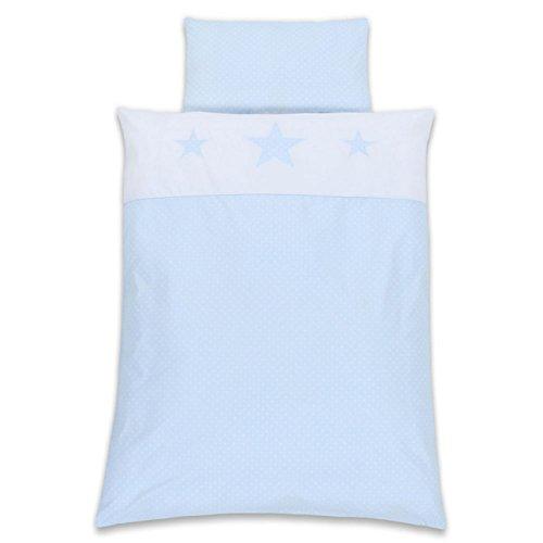 Babybay Parure de lit pour enfant Motif étoiles Bleu clair