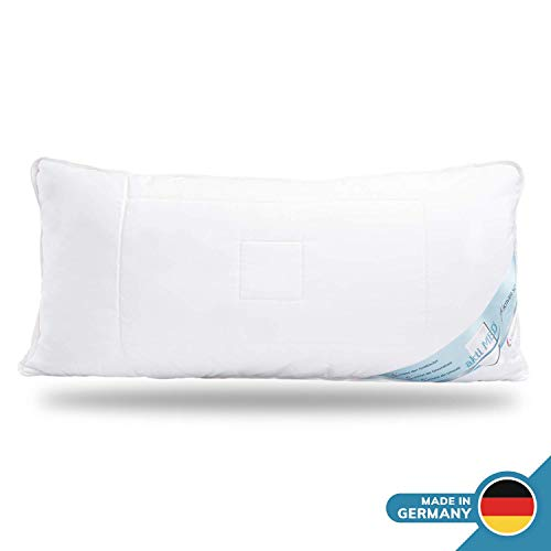 Schlafmond Aktimed Allergiker Kopfkissen 40 x 80 cm, Kissen aus Naturfasern mit Reißverschluss und anpassbarer Füllmenge, waschbar bis 60 Grad, Made in Germany