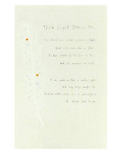 Trauerkarte – Trauerkarte – mit schöner Botschaft – Ihr Licht leuchtet auf