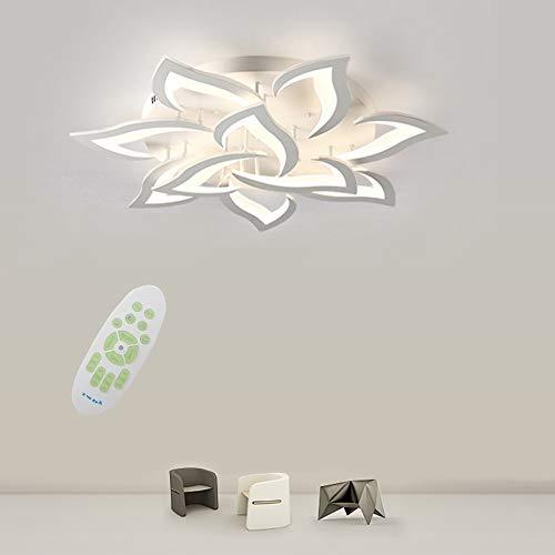 Moderna LED Regulable Lámpara De Techo, 60W Panel Acrílico De Pétalos Creativos Personalidad Luces De Techo, Usado for Comedor, Dormitorio, Lámpara De Techo Con De Pasillo De Habitación Infantil