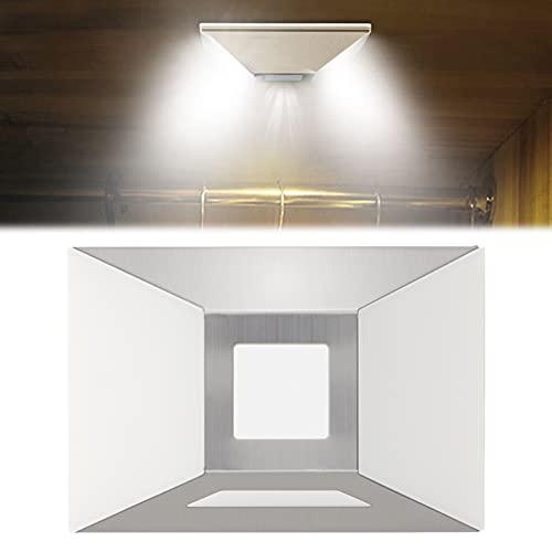LED Nachtlicht mit Bewegungsmelder mit Haftend, Selbsthaftende Schrankbeleuchtung Nachtlampe Orientierungslicht Auto ON/OFF Energieeffizient für Baby Kinder Kinderzimme, Schlafzimmer, Flur(Warmweiß)