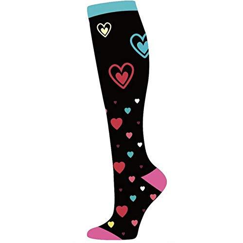 Medias de compresión Unisex de Calidad Calcetines de Ciclismo Aptos para Edema, Diabetes, Venas varicosas, Calcetines de maratón para Correr-WYSZ06-9-2-S-M