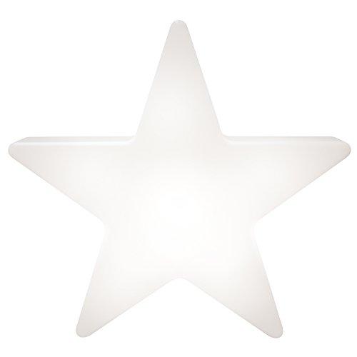 8 seasons design | LED Solarleuchte Stern Shining Star Mini (Ø 40 cm, Solarpanel, warmweiß, Sensor, Deko für außen: Garten, Terrasse, Balkon) weiß