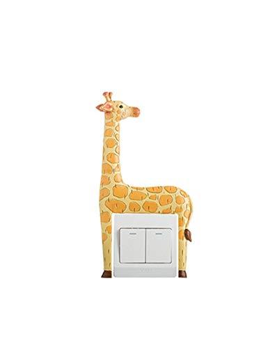 De enige goede kwaliteit Switch stickers giraffe muur stickers beschermende cover creatieve decoratie woonkamer moderne minimalistische koplamp schakelaar socket hars slaapkamer. Zeer mooi