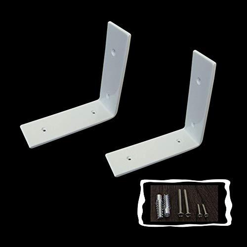 YXYXX Acciaio Al Carbonio Angolo Retto Staffe×2,Montaggio a parete durevole Staffa per mensola,Staffe angolari Mensola Scaffale Convenienza/bianca / 200 x 150mm