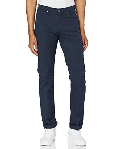 Wrangler Herren Arizona Stretch Straight Leg Hose, Blau (Navy 114), 30W / 34L